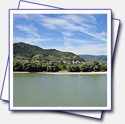 view to other side from Dürnstein through Danube